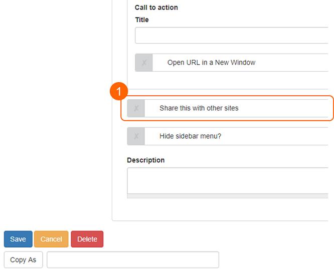 Content sharing checkbox