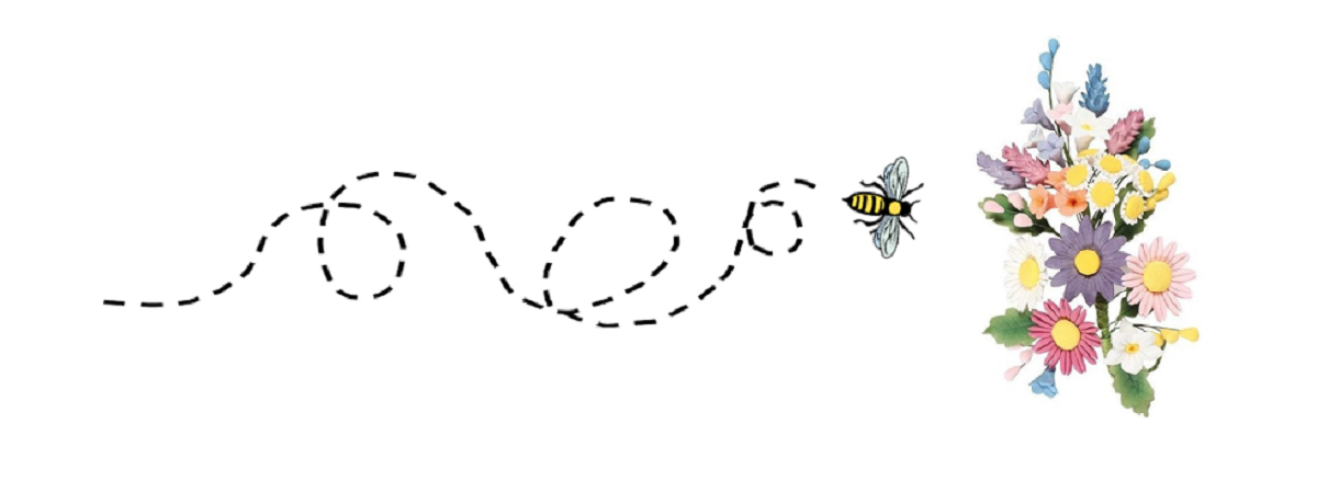 The image shows a bee looping in circles as it flies towards a bunch of flowers, as a metaphor for how inefficient code can slow down the processing of a page request.
