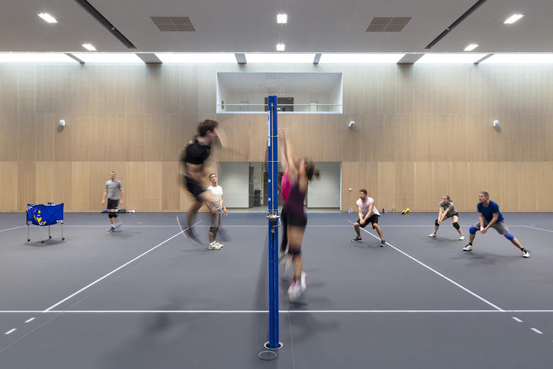 the university sports centre supports a wide range of sporting interests