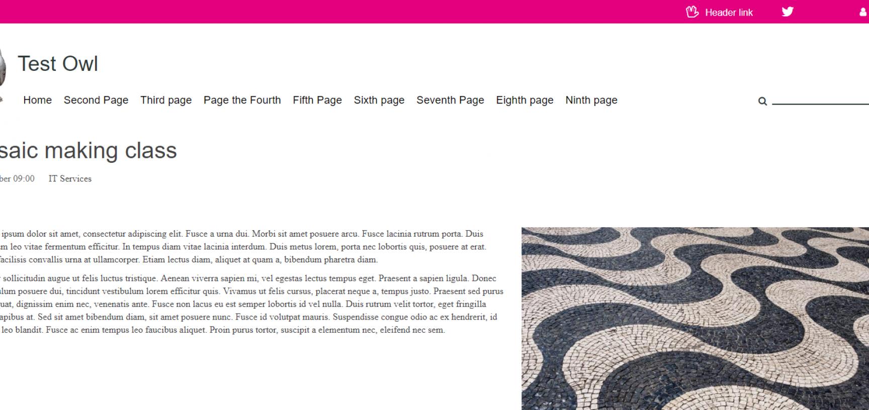 Content on the original site