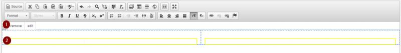 Using an inserted WYSIWYG layout