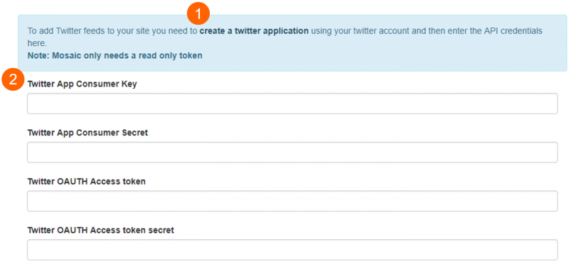 twitter api settings