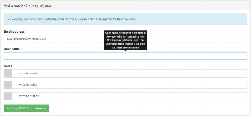 Add non-SSO user example