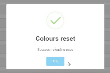 Colours reset success