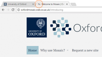 The Oxford Mosaic favicon
